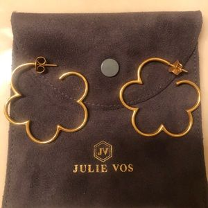 Julie Vos Medium Gardenia Hoops